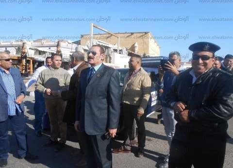 بالصور| رئيس مدينة دهب يزور الأمن الوطني والمباحث للتهنئة بعيد الشرطة