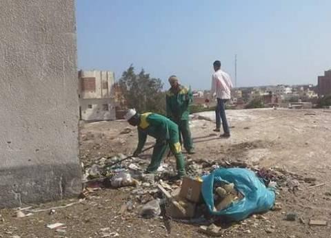 إدارة المخلفات تواصل أعمال النظافة اليومية بشرق الإسكندرية