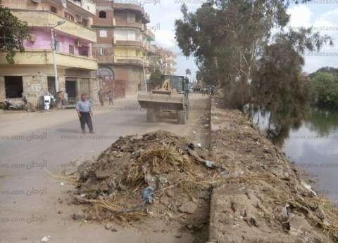 """الوحدة المحلية تنظم حملة نظافة بقرية """"الرياض"""" في دمياط"""