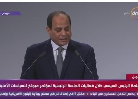 عاجل| السيسي: مصر ترحب بجميع الشركاء الدوليين لتمنية إفريقيا