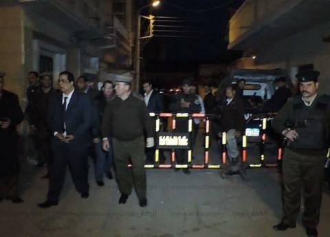 بالصور| مدير أمن كفر الشيخ يتفقد الخدمات الأمنية أمام الكنائس