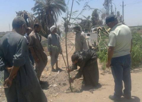 """بدء أعمال مبادرة """"بأيدينا نجمل بلدنا"""" بقرية بني أحمد في المنيا"""