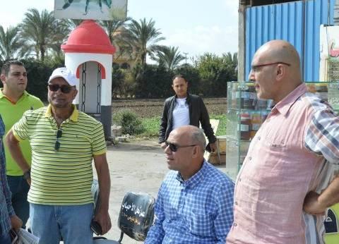 بالصور  رئيس المحلة يوافق على دعم رجل أعمال في تطوير وتجميل طريق طنطا