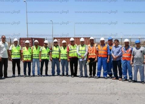 تدريب عملي للتعامل مع رصد قراءات إشعاعية في ميناء دمياط