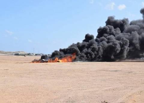 """نجاح تجربة طوارئ """"طائرة محترقة"""" بمطار مرسى علم الدولي"""