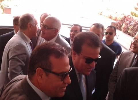 وصول وزير التعليم العالي لجامعة المنصورة لحضور مبادرة مجابهة التطرف