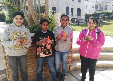 ورشة عمل للأطفال عن الأواني الفخارية بمتحف الإسكندرية القومي