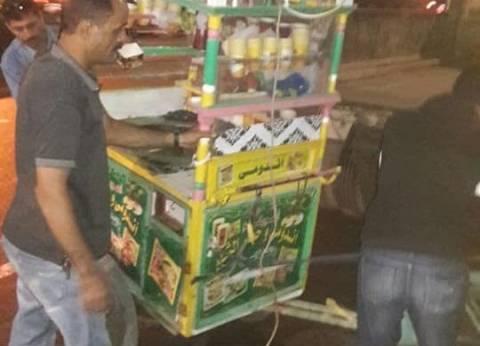 حملة لإزالة الإشغالات بشوارع حي وسط الإسكندرية