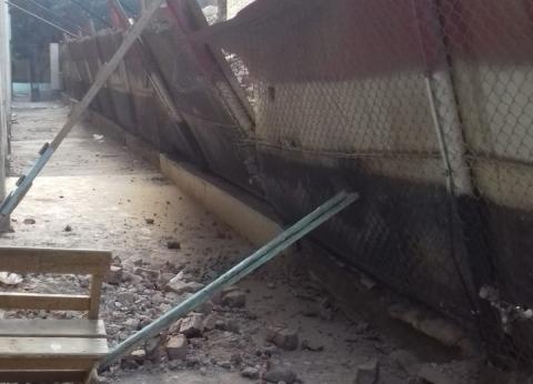 """""""تعليم سوهاج"""": لا يوجد إصابات للطلاب في انهيار حائط منزل على سور مدرسة"""
