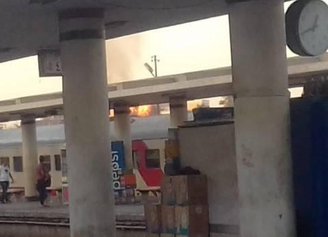 إخماد حريق محدود اندلع بحشائش بجوار محطة قطارات المنيا