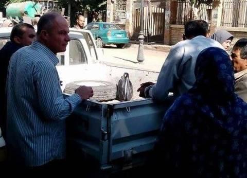 توزيع 4 أطنان سكر في كفر سعد بسعر 6 جنيهات للكيلو