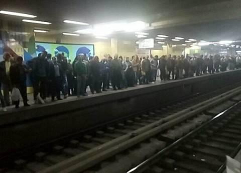 مترو الأنفاق: عطل بالخط الأول بسبب فصل في التيار الكهربائي