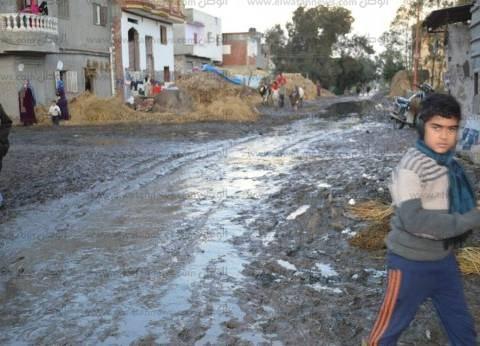 بالصور| رئيس مدينة مطوبس بكفر الشيخ يتفقد عددا من القرى