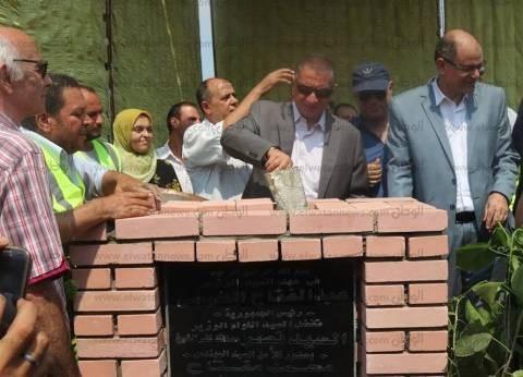 بالصور| محافظ كفرالشيخ يضع حجر أساس مشروع الصرف الصحي