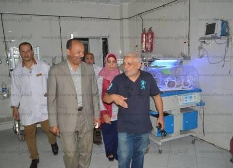 بالصور| رئيس مطوبس يتفقد المستشفى المركزي للاطمئنان على الخدمة الطبية