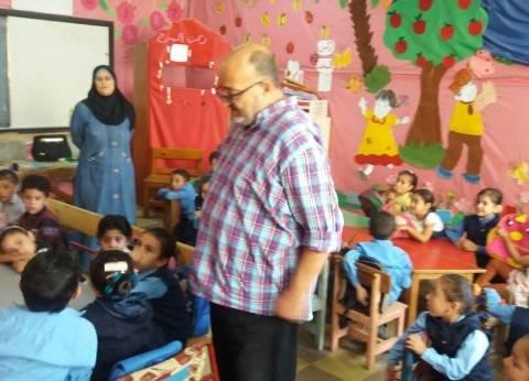 بالصور| مدير تعليم الغربية يباشر احتفالات نصر أكتوبر بغرب المحلة