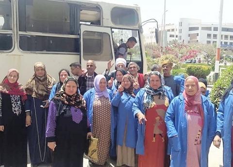 العاملون بجامعة المنيا يشاركون في الاستفتاء على تعديل الدستور