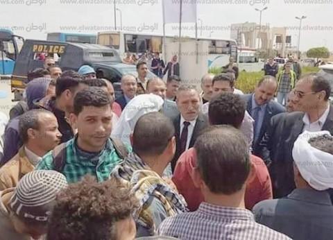 بالصور| أهالي أبو صوير في مسيرات حاشدة للاستفتاء: نغير التاريخ