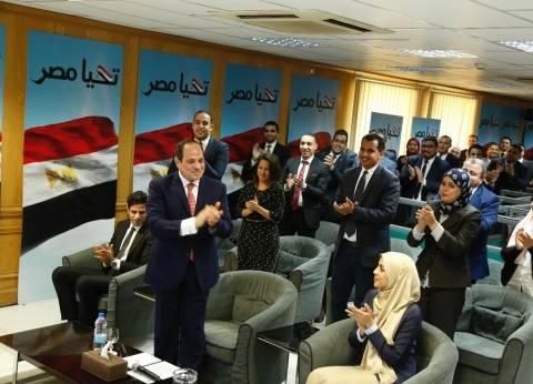 بالصور| السيسي لحظة إعلان فوزه في الانتخابات الرئاسية