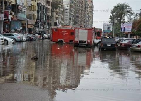 محافظ الغربية يتفقد أعمال رفع المياه من شوارع طنطا