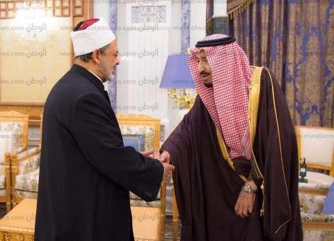 الملك سلمان يستقبل الإمام الأكبر أحمد الطيب