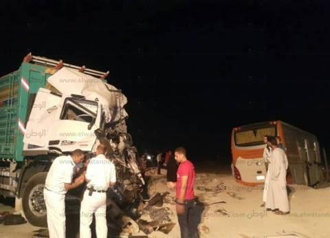 بالصور| أسماء مصابي حادث الطريق الدولي بمدينة أبو زنيمة