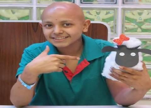 «الوطن» قوته فى ناسه.. إرادة: «أحمد» رسم السرطان
