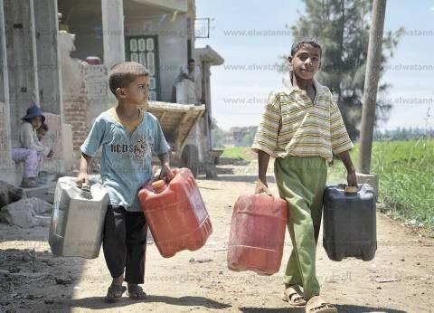 أهالي قريتين بأسيوط يشكون تلوث المياه وإصابتهم بالأمراض