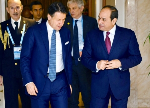 """السيسي يبحث قضية """"ريجيني"""" مع رئيس الوزراء الإيطالي"""