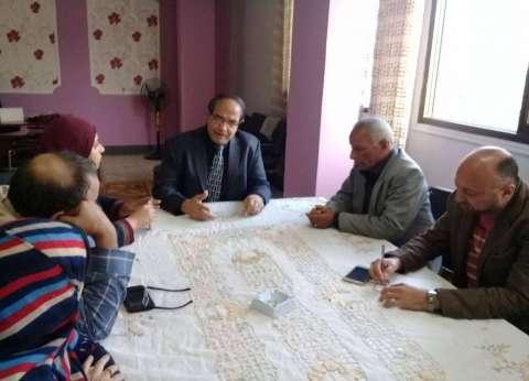 اجتماع أسبوعي لمتابعة أعمال الرصف لمركز ومدينة كفر البطيخ