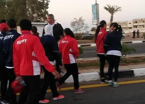 بالصور| بدء تجمع شباب العالم بشرم الشيخ للمشاركة في الماراثون