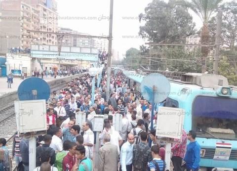 عودة حركة الخط الأول للمترو بعد رفع آثار الأمطار بمحطات حلوان