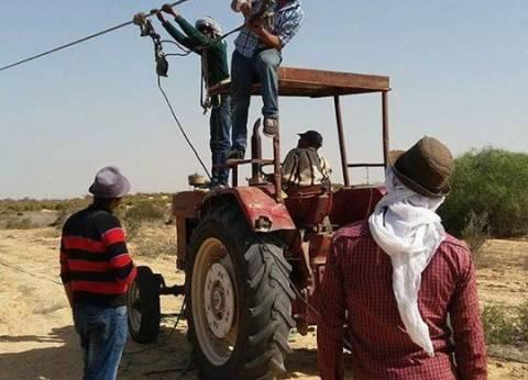 """""""كهرباء شمال سيناء"""" تدعو أهالي رفح والشيخ زويد لتوفير البنزين للمولدات"""