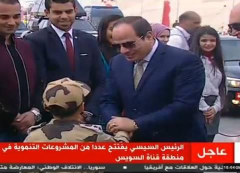 """""""السيسي"""" للمصريين: """"ربنا بيساعد الصالحين اللي بيبنوا ويعمروا.. اطمنوا"""""""