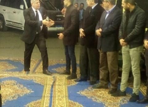 أحمد حسن وشوبير وأسامة حسني يقدمون واجب العزاء في وفاة خالد توحيد