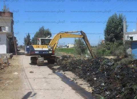 تطهير 35 كيلومترا من قنوات الري والمصارف الزراعية بكفر الشيخ