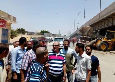 """فتح طريق أسفل كوبري """"العامرية"""" بالإسكندرية لتسهيل حركة المرور"""