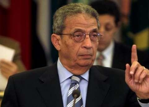 """عمرو موسى يدلي بصوته في """"القطامية"""".. ويؤكد: ننتظر برلمان على قدر المسؤولية"""