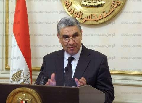محمد شاكر: ندرس زيادة سعة خط الربط الكهربائي بين مصر والأردن
