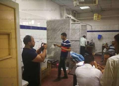 شباب كفر الدوار يتبرعون بالدم لصالح مصابي قطاري الإسكندرية