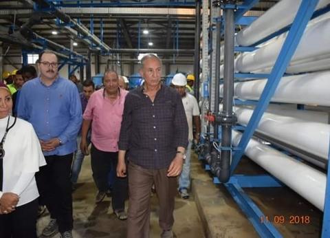 محافظ البحر الأحمر: الانتهاء من أعمال محطة تحلية مياه الشلاتين قريبا