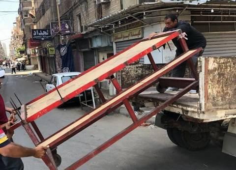إزالة مخالفات بشوارع شرق الإسكندرية