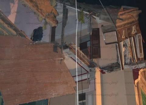 بالصور  انهيار عقار في طنطا.. وتسكين المتضررين في مساكن إيواء مؤقتة