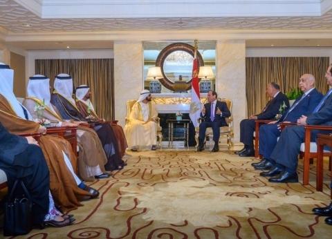 """محمد بن راشد: نتابع التطورات التي يقودها السيسي في """"أكبر دول المنطقة"""""""