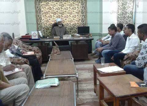 اتحاد طلاب الأزهر بأسوان يلتقي رئيس الإدارة المركزية