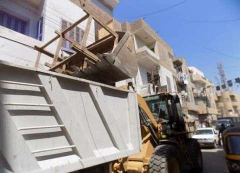 تنفيذ 180 قرار إزالة إدارية خلال حملة لرفع الإشغالات ببني مزار