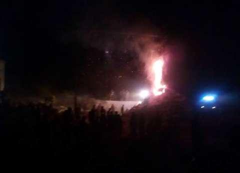 عاجل  اندلاع حريق هائل بمزرعة دواجن بقرية السجاعية في الغربية