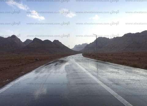 """سقوط أمطار خفيفة على مدينة سانت كاترين """"وأزمات المحافظة"""" تستعد"""