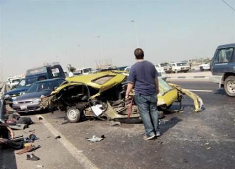"""""""الصحة"""": وفاة 5 أشخاص وإصابة 3 آخرين في تصادم 3 سيارات بسوهاج"""