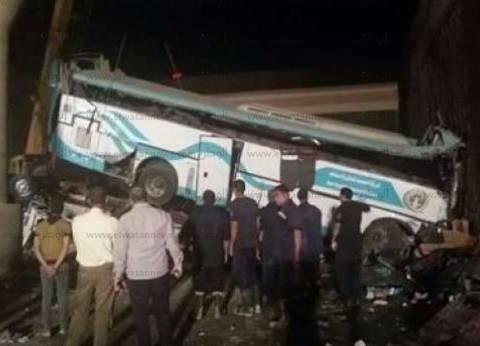"""""""الصحة"""": 14 وفاة و42 مصابا الحصيلة النهائية في حادث """"أتوبيس بني سويف"""""""